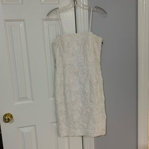 Calvin Klein white rose dress
